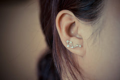 Libra Zodiac Constellation Ear Climbers