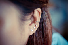 Mini Cube Earring Studs
