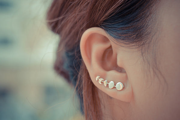 Moon Phases Ear Climbers