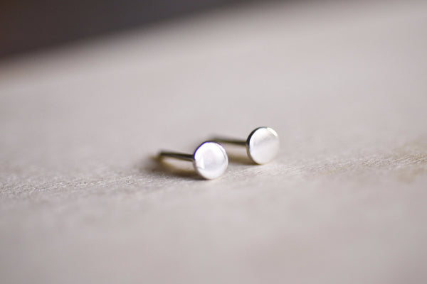 Flat Round Earring Studs