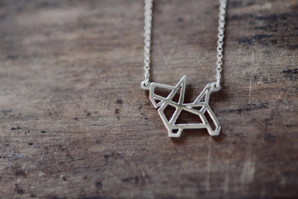 Small Dog Outline Necklace