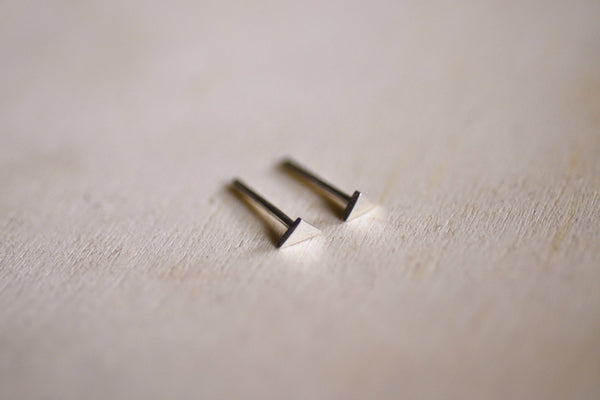 Mini Triangle Earring Studs