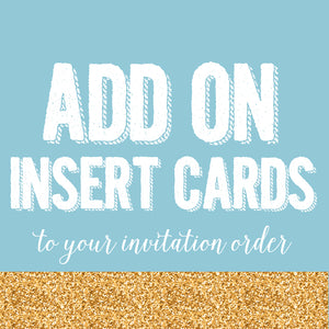 ADD ON - Insert cards for invitations