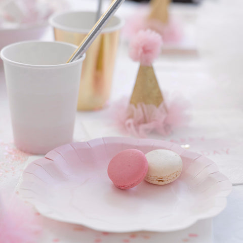 Cake plates | Pink and Gold