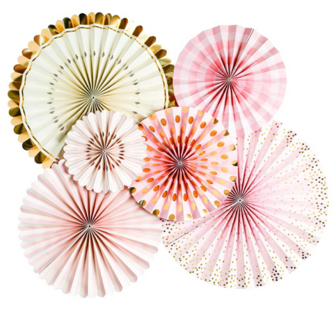 Party Fans & Confetti - Pink, Gold and Ivory By My Mind's Eye