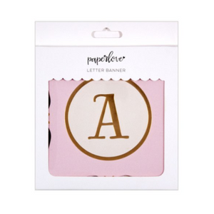 Banner | Pink and Gold Letter 60pc