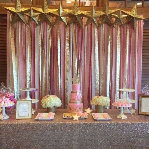 Blush pink and gold hand dyed Fabric backdrop for ceremony 5ft x 8ft - Wedding & Party decor, photobooth backdrop