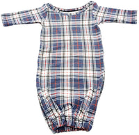 Plaid Baby Gown Set