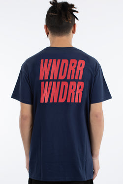 VANDALS CUSTOM FIT TEE - NAVY