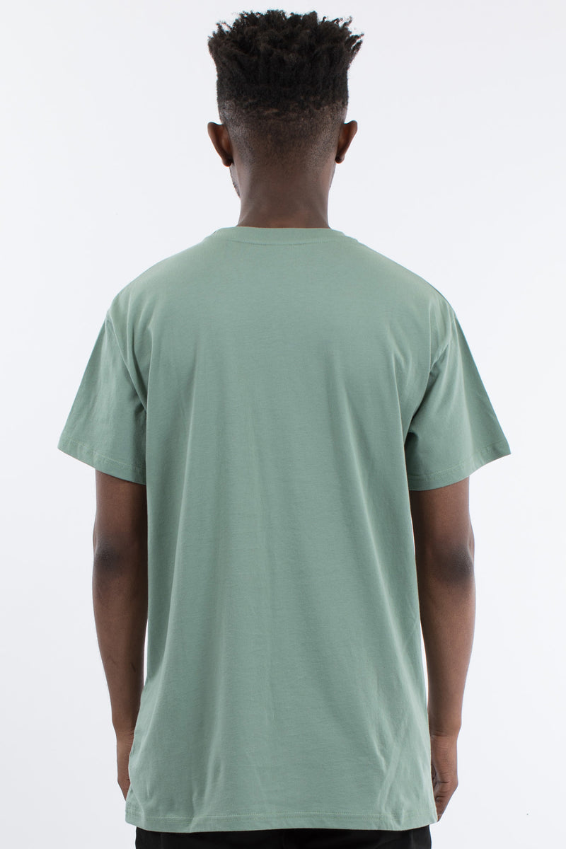 OVERTURNED CUSTOM FIT TEE - OLIVE