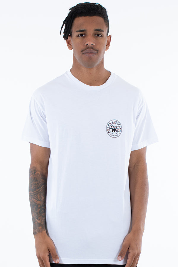 CLUTCH CUSTOM FIT TEE - WHITE/BLACK