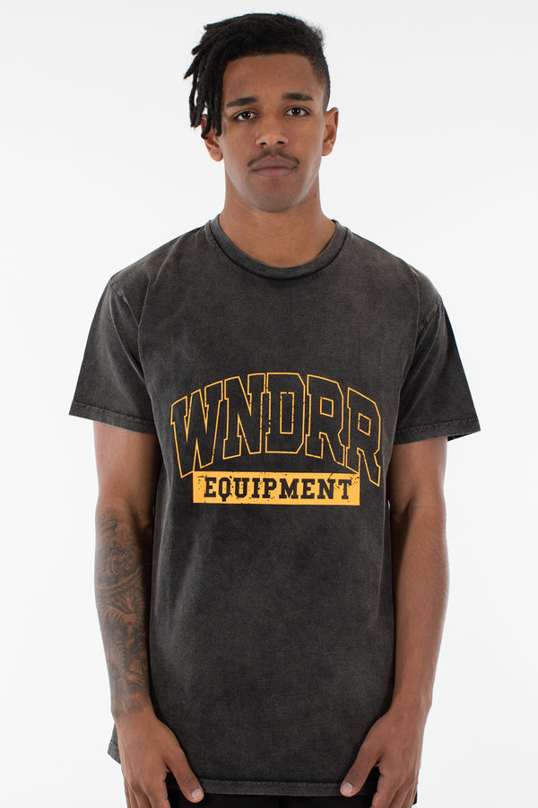 BLEACHER CUSTOM FIT TEE - WASHED BLACK