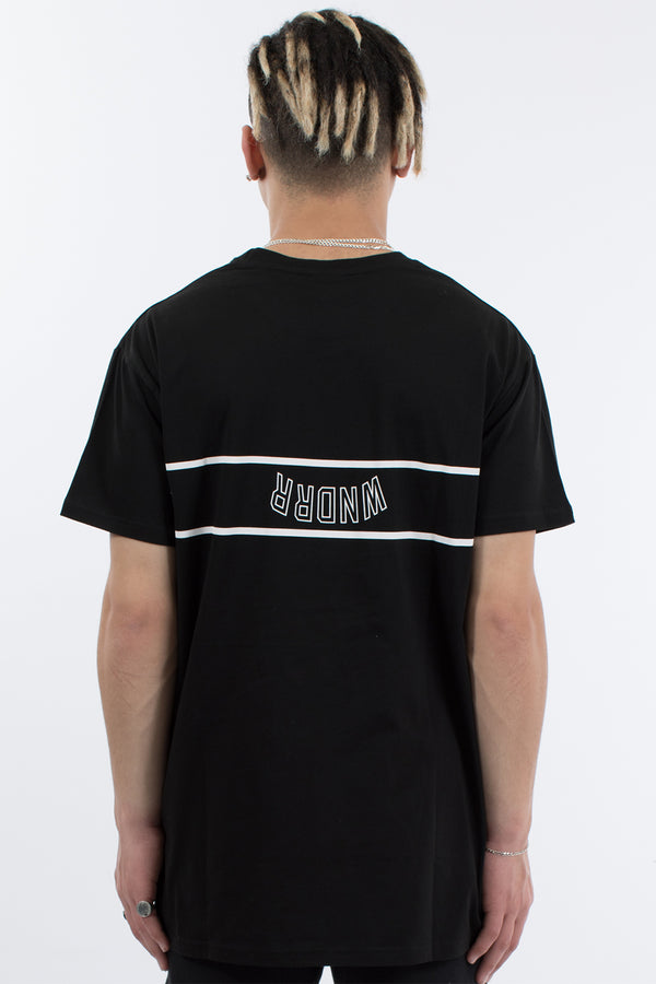 REVERSE CUSTOM FIT TEE - BLACK