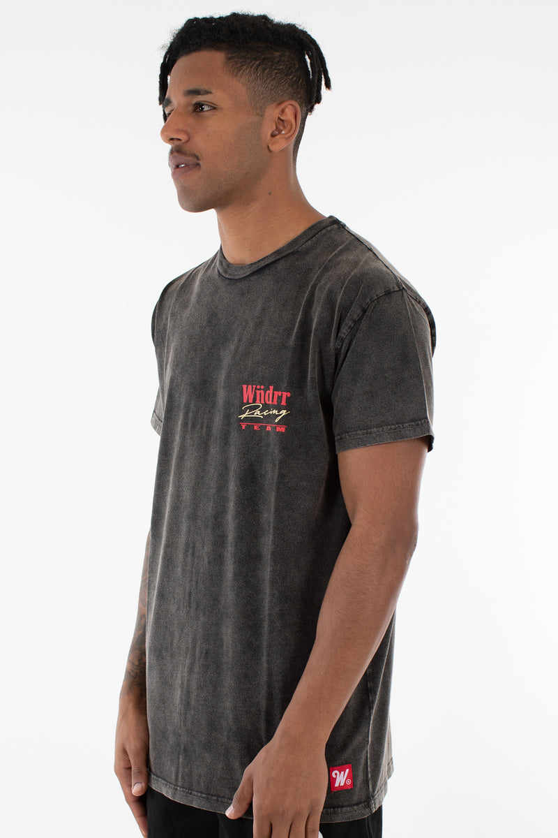 PIT LANE CUSTOM FIT TEE - WASHED BLACK