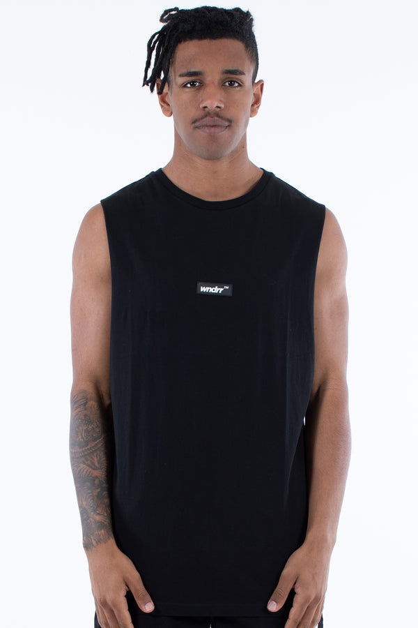 BACKLASH SMU MUSCLE TOP - BLACK