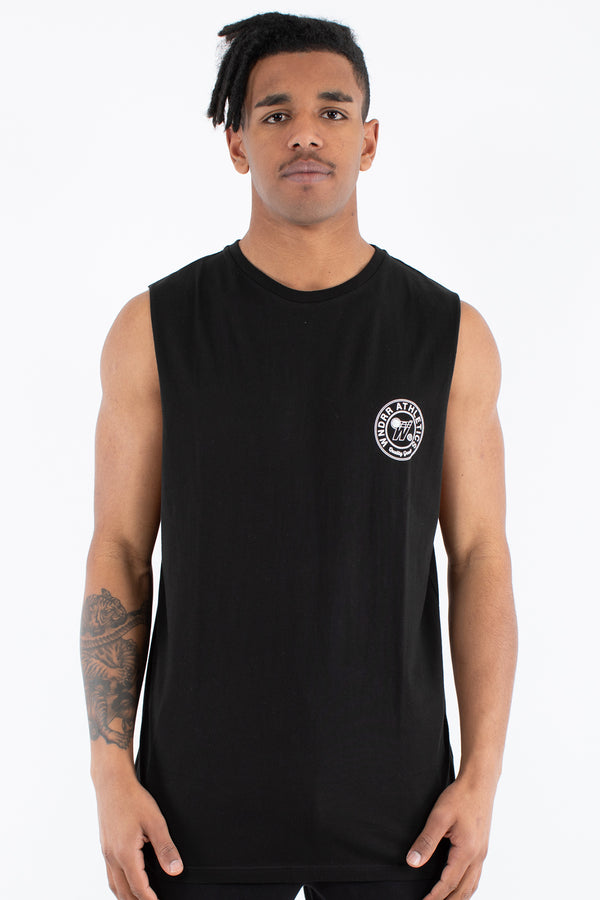 REGGIE MUSCLE TOP - BLACK
