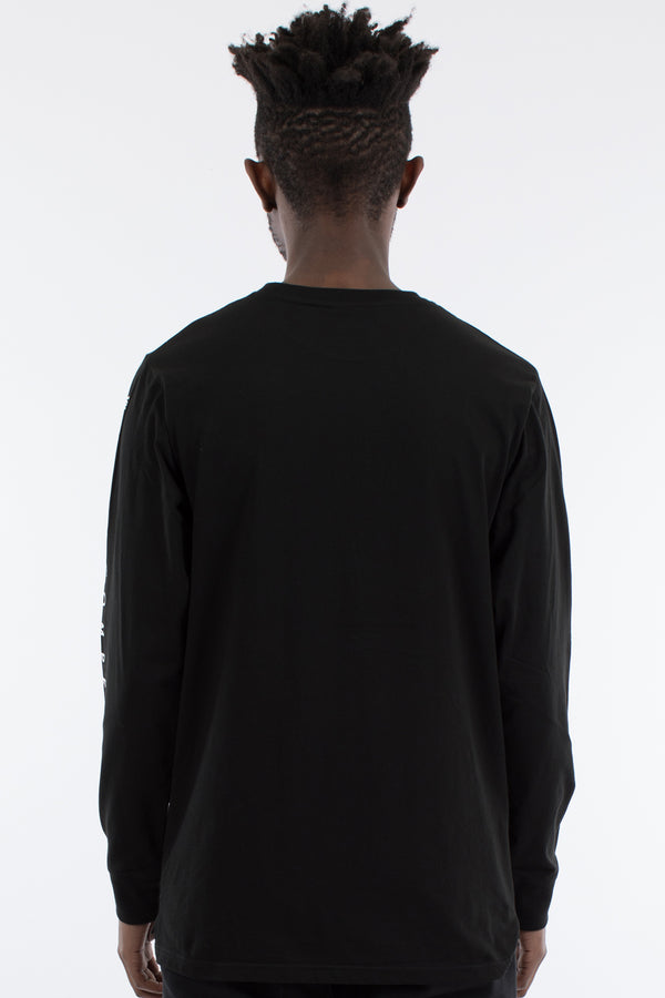 ACCENT LONG SLEEVE TEE - BLACK