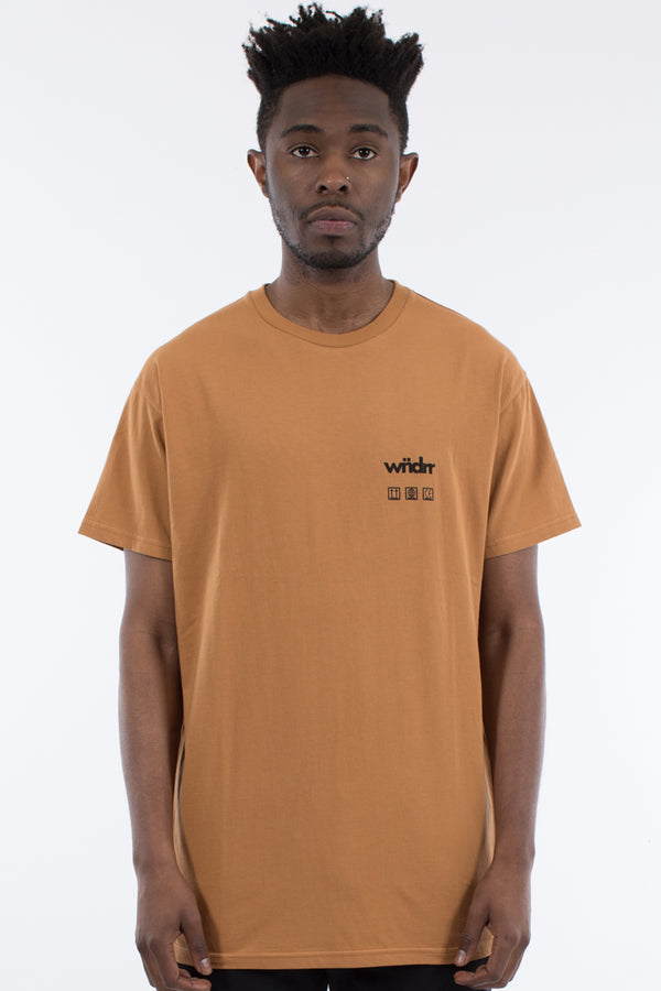BASE CUSTOM FIT TEE - ALMOND