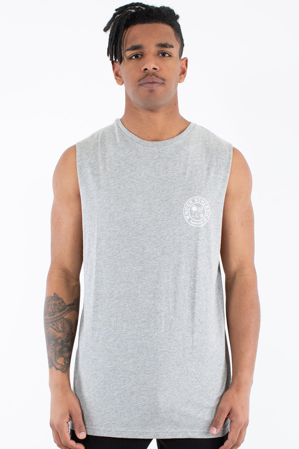 REGGIE MUSCLE TOP - GREY MARLE