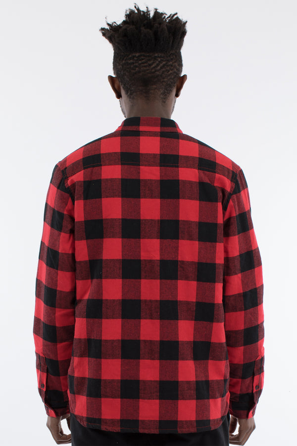 PYRE SHERPA SHIRT JACKET - RED/BLACK