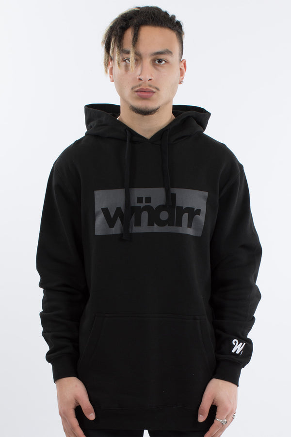 ACCENT TONAL HOOD SWEAT - BLACK