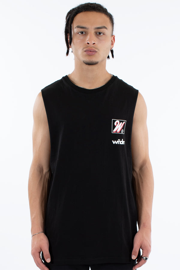 ROCKWELL MUSCLE TOP - BLACK