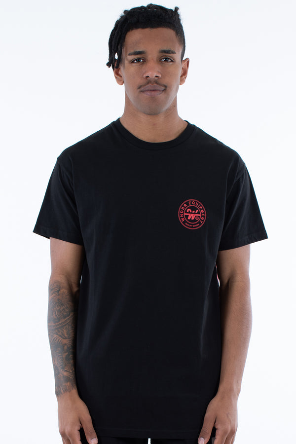 CLUTCH CUSTOM FIT TEE - BLACK/RED