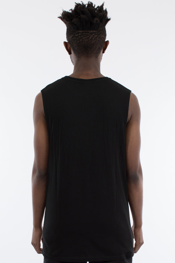 REVIVE MUSCLE TOP - BLACK