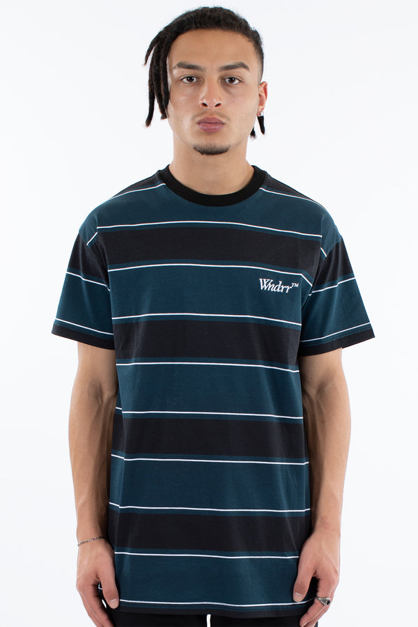 RUNAWAY STRIPE CUSTOM FIT TEE - MULTI