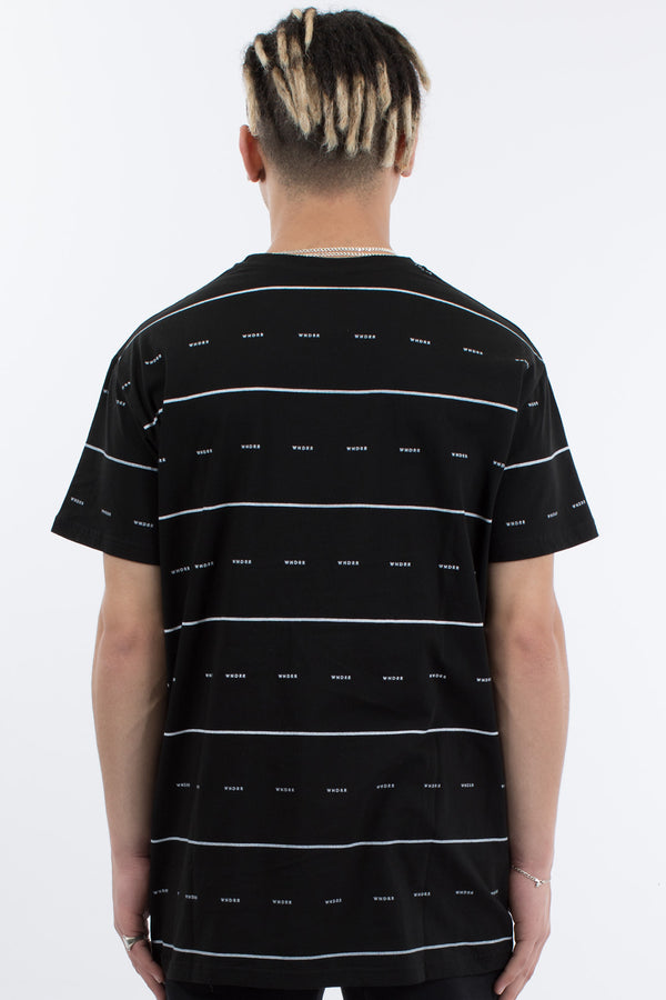 EXPOSURE STRIPE TEE - BLACK/WHITE