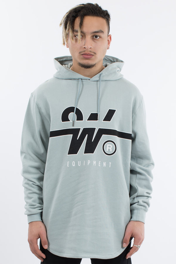 OVERTIME CURVED HEM HOOD SWEAT - CLAY