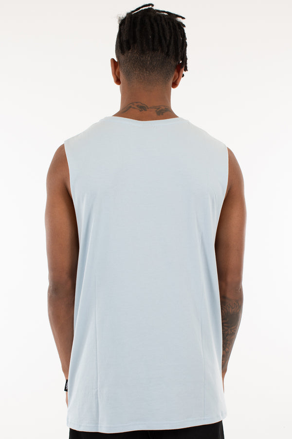 MANIFEST MUSCLE TOP - SKY BLUE