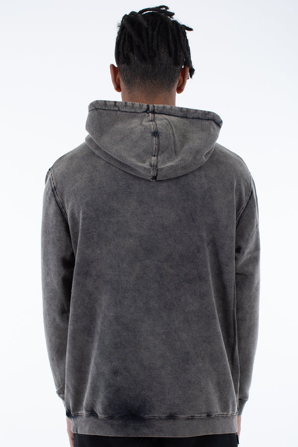AMERICAN SAGA HOOD SWEAT - WASHED BLACK