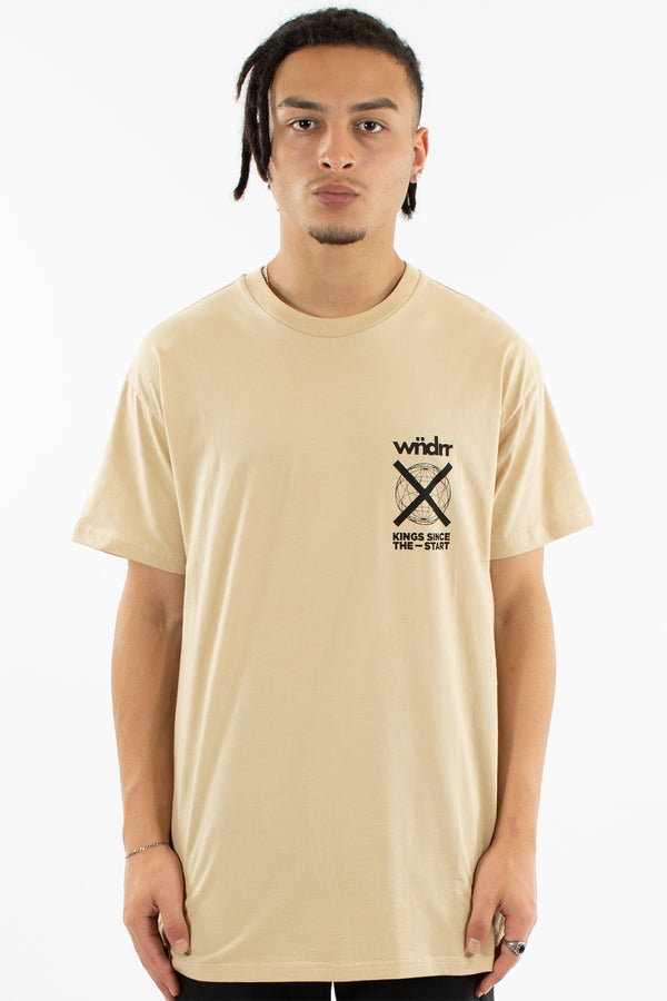 PROSPER CUSTOM FIT TEE - TAN
