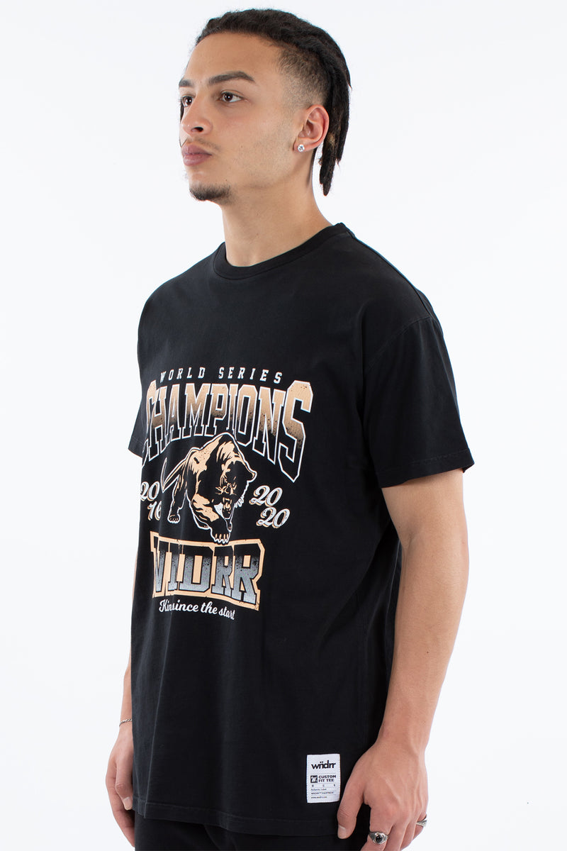 CHAMPIONS CUSTOM FIT TEE - WASHED BLACK