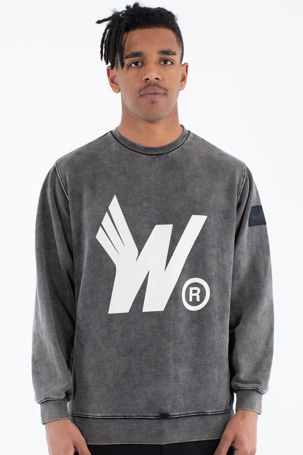 FLIGHT CREW SWEAT - WASHED BLACK