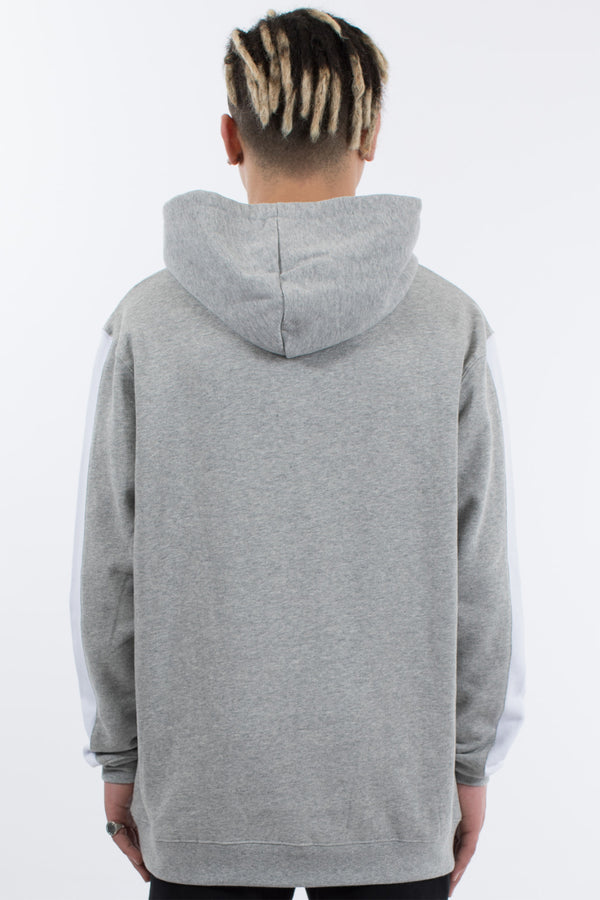 RIDER HOOD SWEAT - GREY MARLE
