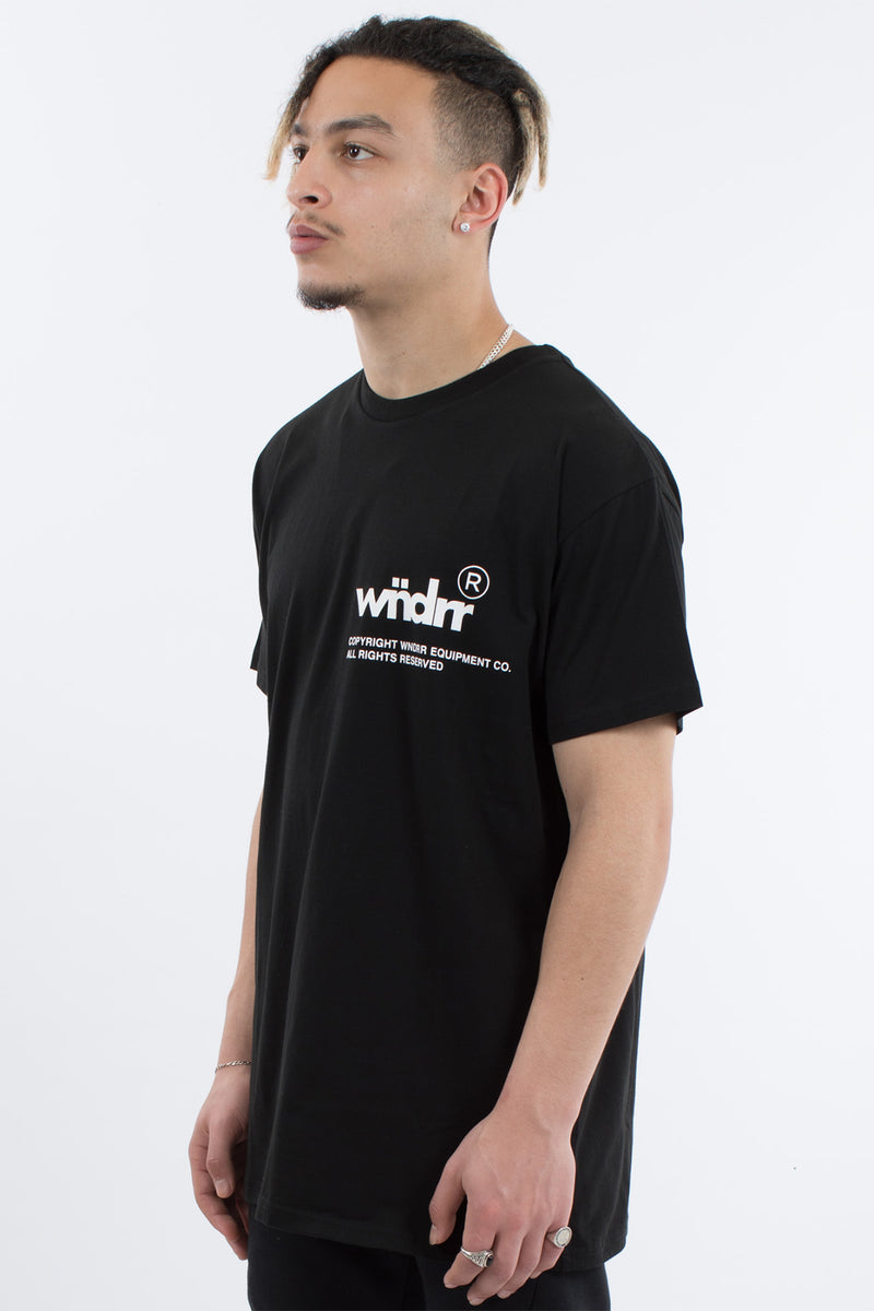 OFFCUT CUSTOM FIT TEE - BLACK/WHITE