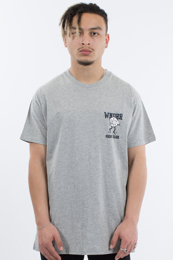 JACKPOT CUSTOM FIT TEE - GREY MARLE