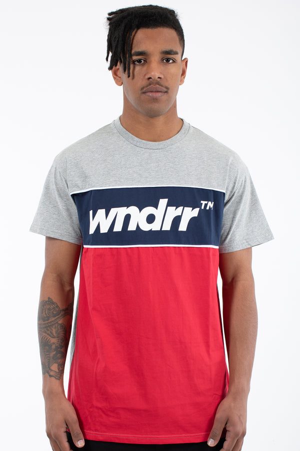 LAST LAP 3 PANEL TEE - GREY MARLE
