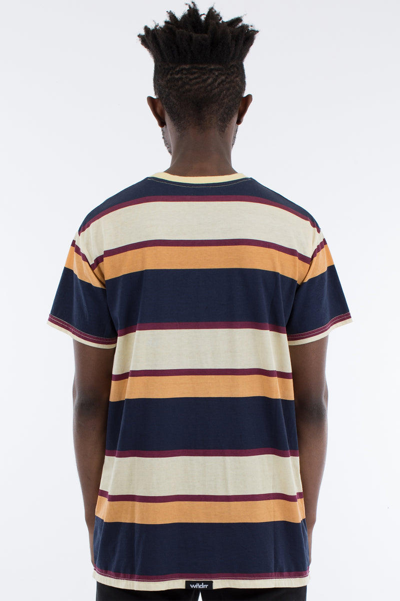 MARK STRIPE CUSTOM FIT TEE - MULTI