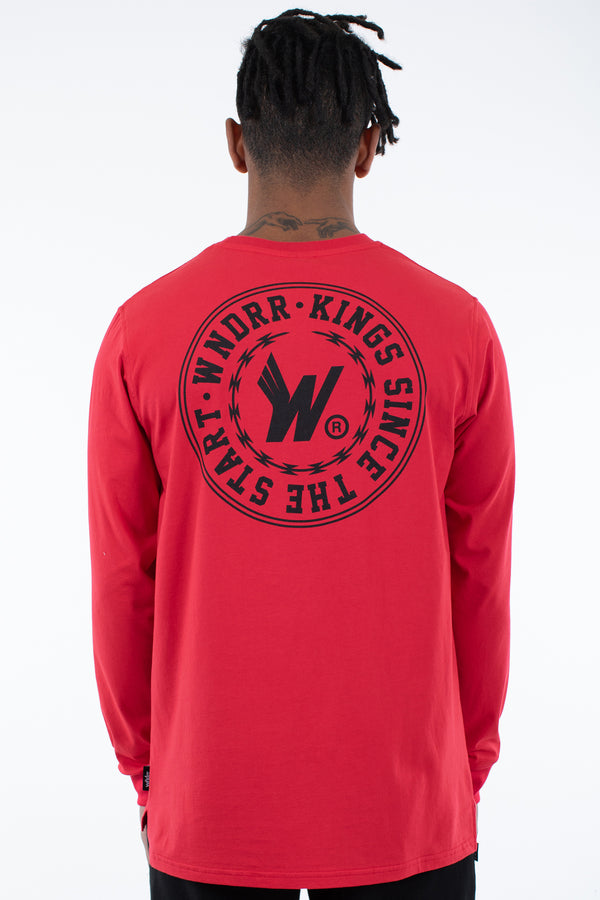 ORNAMENT L/S TEE - RED