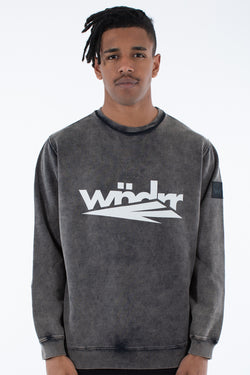 TRAILS CREW SWEAT - WASHED BLACK