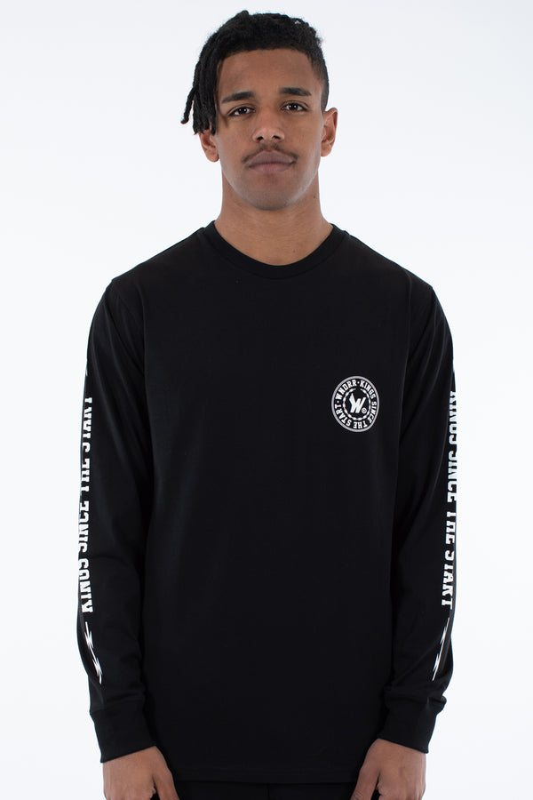 ORNAMENT L/S TEE - WASHED BLACK