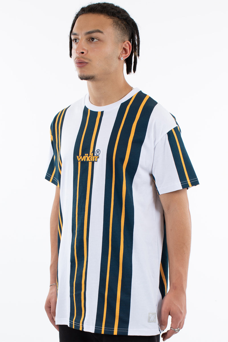 OUTLAW VERT STRIPE CUSTOM FIT TEE - MULTI