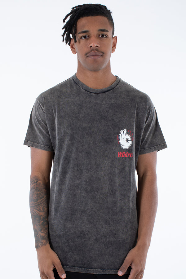 FIRE CUSTOM FIT TEE - WASHED BLACK