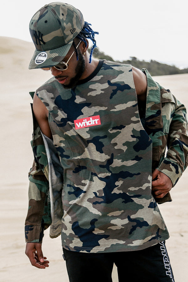 STAPLE CAMO MUSCLE TOP - CAMO