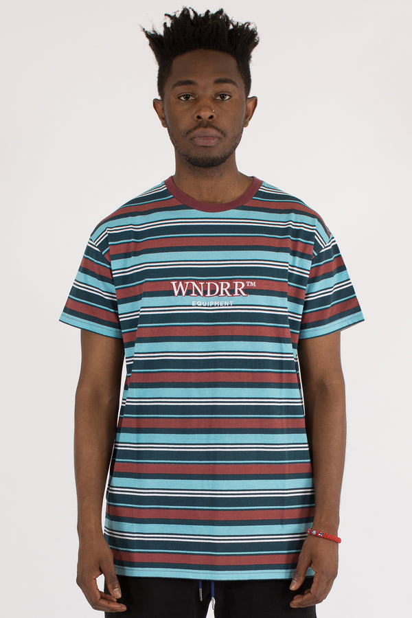 JADEN STRIPE CUSTOM FIT TEE - MULTI