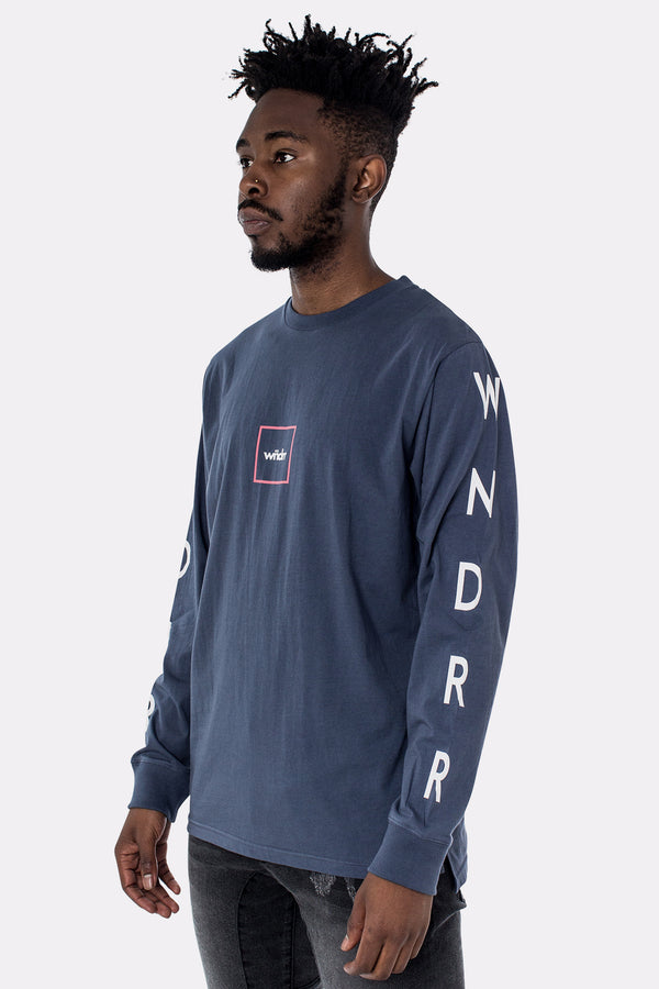CREED LONG SLEEVE TEE - NAVY