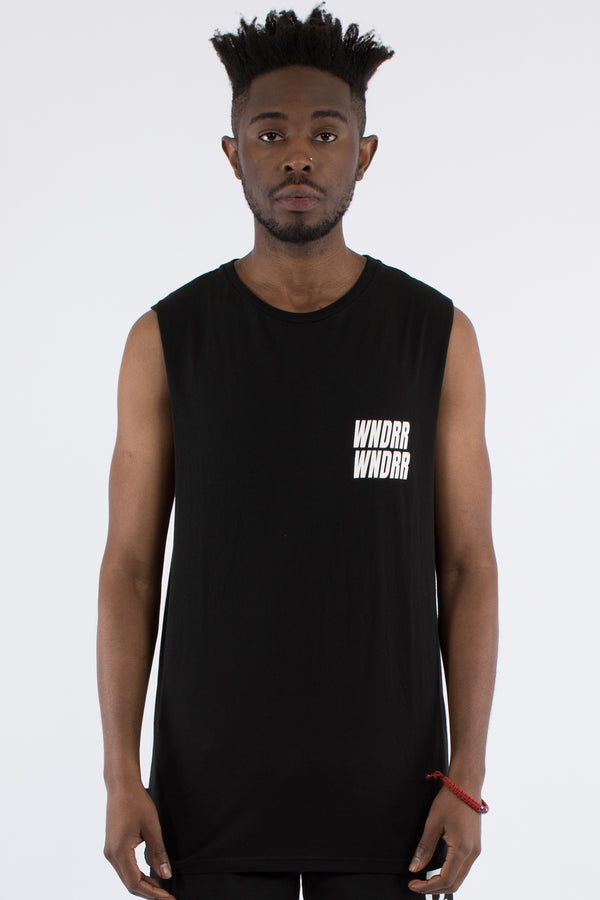 VANDALS MUSCLE TOP - BLACK